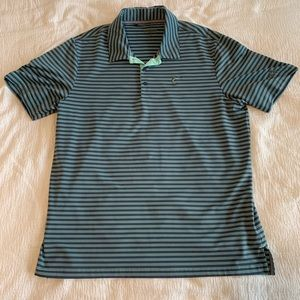 Adidas Performance Golf Polo Green & Gray Large